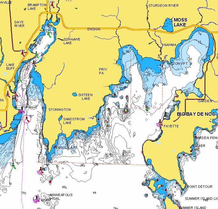 Bays de Noc, Lake Michigan